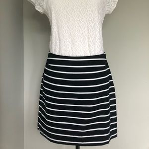 Banana Republic mini skirt- navy & white stripe